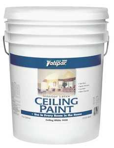 Valspar 1426 Ceiling Interior Latex Paint Flat White 5 Gal