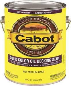 Cabot 1608 Exterior Decking Stain Medium Base Opaque Finish Gallon