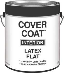 Valspar 256 Cover Coat Interior Latex Paint Flat Antique White 1 Gal