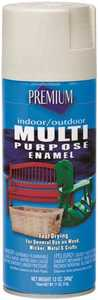 Premium MP1010 Interior/Exterior Multi-Purpose Enamel Spray Paint Almond Gloss Finish 12-Ounce Can