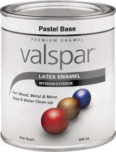 Valspar 65101 Premium Latex Enamel Paint Gloss Pastel Base 1 Qt