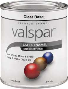 Valspar 65103 Premium Latex Enamel Paint Gloss Clear Base 1 Qt