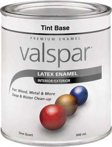 Valspar 65102 Premium Latex Enamel Paint Gloss Tint Base 1 Qt