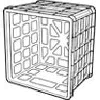 Sterilite 16928006 White Storage Milk Crate
