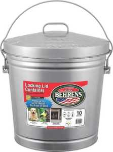 Behrens 6110 Dover Garbage Can Galvanized Metal 10 Gal