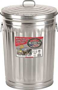 Behrens 1211 Dover Galvanized Metal Garbage Can 20 Gal