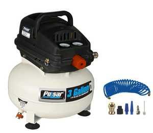 Pulsar Products PCE6030PK 3-Gallon Pancake Portable Air Compressor