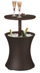 Keter North America, Ll 17194548 Rattan Cool Bar Patio Table