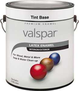 Valspar 65102 Premium Latex Enamel Paint Gloss Tint Base 1 Gal