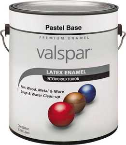 Valspar 65101 Premium Latex Enamel Paint Gloss Pastel Base 1 Gal