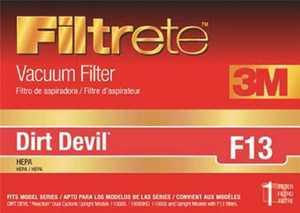 3M 65813-2 Filtrete Dirt Devil Type F13 HEPA Vacuum Cleaner Filter