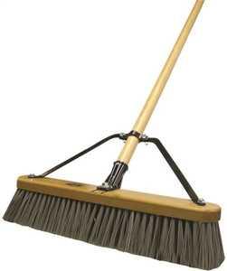 Quickie 00847HDSUTRI 18 Stiff Polypropylene Fiber Push Broom