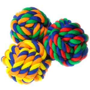 FLP 5740394 Nylon Rope Ball Dog Toy