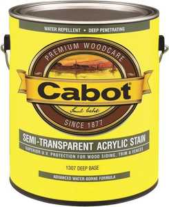 Cabot 1307 Exterior Acrylic Wood Stain Deep Base Semi-Transparent Finish Gallon