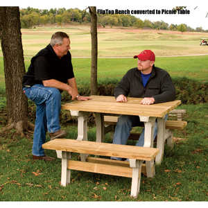 Hopkins mfg 90110 flip top bench table at sutherlands for Flip top picnic table plans