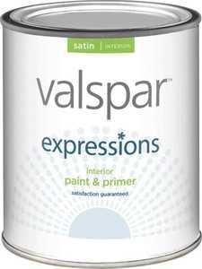 Valspar 17044 Expressions Latex Paint Satin Clear 1 Qt