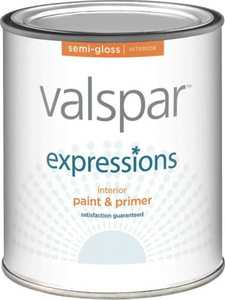 Valspar 17062 Expressions Latex Paint Semi-Gloss Pastel Base 1 Qt