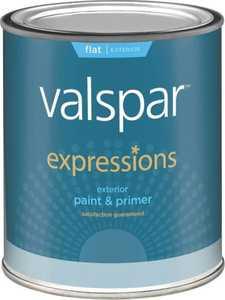Valspar 17101 Expressions Exterior Latex Paint Flat White 1 Qt