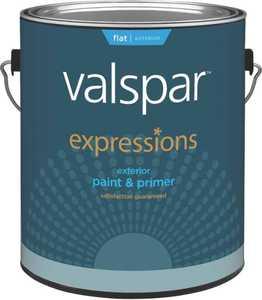 Valspar 17101 Expressions Exterior Latex Paint Flat White 1 Gal