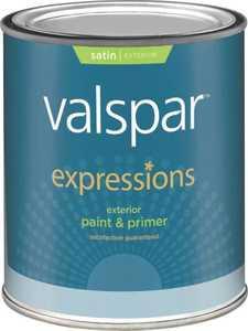 Valspar 17141 Expressions Exterior Latex Paint Satin White 1 Qt