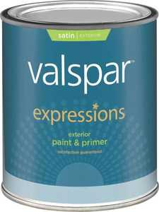 Valspar 17143 Expressions Exterior Latex Paint Satin Tint Base 1 Qt