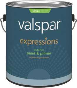 Valspar 17144 Expressions Exterior Latex Paint Satin Clear 1 Gal