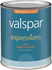 Valspar 17161 Expressions Exterior Latex Paint Semi-Gloss White 1 Qt