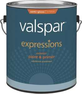 Valspar 17163 Expressions Exterior Latex Paint Semi-Gloss Tint Base 1 Gal