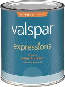 Valspar 17164 Expressions Exterior Latex Paint Semi-Gloss Clear 1 Qt