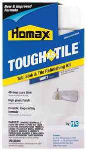 The Homax Group 720771 Tough As Tile One-Part Spray-On Epoxy Finish White 32-Ounce