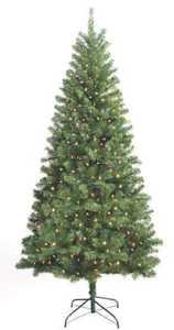 Santa's Forest Inc 10770 7 ft Douglas Fir Pre-Lit Tree with Clear Bulbs