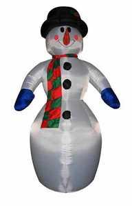 Santa's Forest Inc 90818 11-1/2 ft Inflatable Snowman Decoration