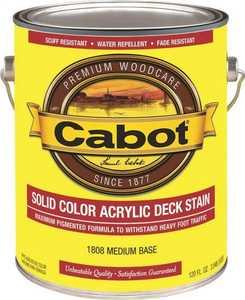 Cabot 1808 Exterior Acrylic Deck Stain Medium Base Low-Lustre Finish Gallon
