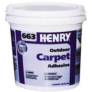 Ww Henry Company 663-034 Exterior Carpet Adhesive Qt
