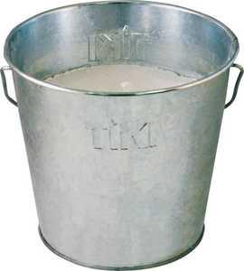 TIKI CORP 1412110 Galvanized Citronella Candle Bucket