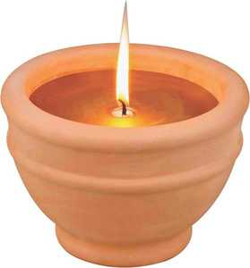 MintCraft C57655-3L Citronella Candle With Terracotta Bowl