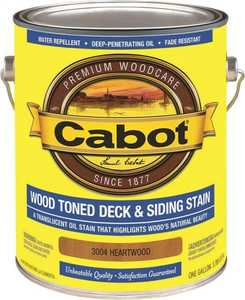 Cabot 3004 Exterior Deck And Siding Stain Heartwood Flat Finish Gallon