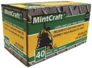 Petoskey Plastics FG-03812-05 Heavy Duty Lawn And Leaf Bag With Ties 39 Gal
