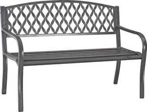 Seasonal Trends 2156198 Homebasix Steel Park Bench Antique Bronze