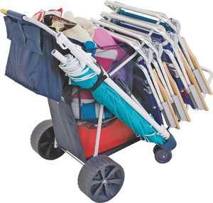 Rio Brands 2379535 Beach Cart Wide Wheels