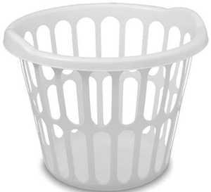 Sterilite 4387015 Basket Laundry Round 1 Bu