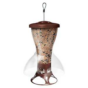 Perky Pet 5109-2 Fortress The Bird Shelter Squirrel Proof Bird Feeder