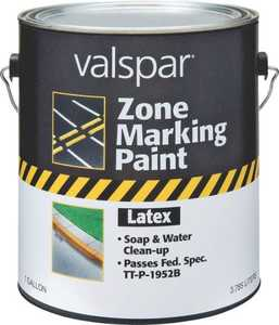 Valspar 135 White Zone Marking Latex Paint Flat Finish 1 Gal