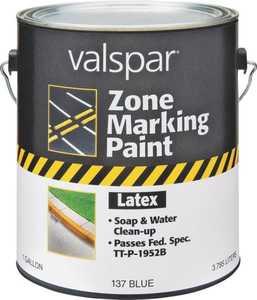 Valspar 137 Blue Zone Marking Latex Paint Flat Finish 1 Gal