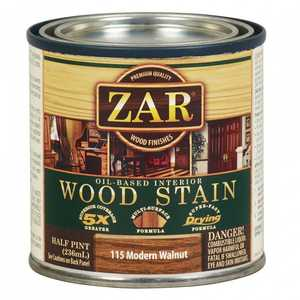 United Gilsonite Laboratories 11506 Zar Oil Based Wood Stain Modern Walnut, 1/2 Pt