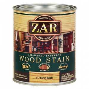 United Gilsonite Laboratories 11712 Zar Oil Based Wood Stain Honey Maple, Quart