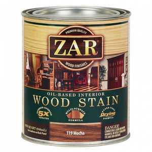 United Gilsonite Laboratories 11912 Zar Oil Based Wood Stain Mocha, Quart
