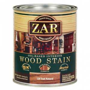 United Gilsonite Laboratories 12012 Zar Oil Based Wood Stain Teak Natural, Quart