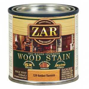 United Gilsonite Laboratories 12906 Zar Oil Based Wood Stain Amber Varnish, 1/2 Pt