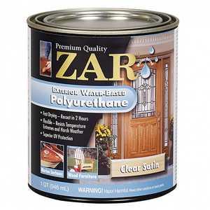 United Gilsonite Laboratories 32712 Zar Exterior Water-Based Polyurethane Satin, Quart